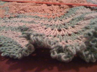 Hemlock Ring Blanket Side View