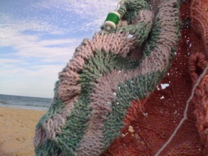 Hemlock Ring Blankie on Montauk Beach