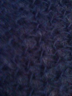 Navy Mohair Lace Scarf Detail
