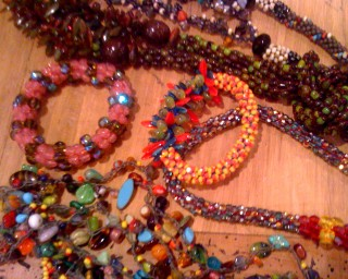 Beaded necklaces for sale...