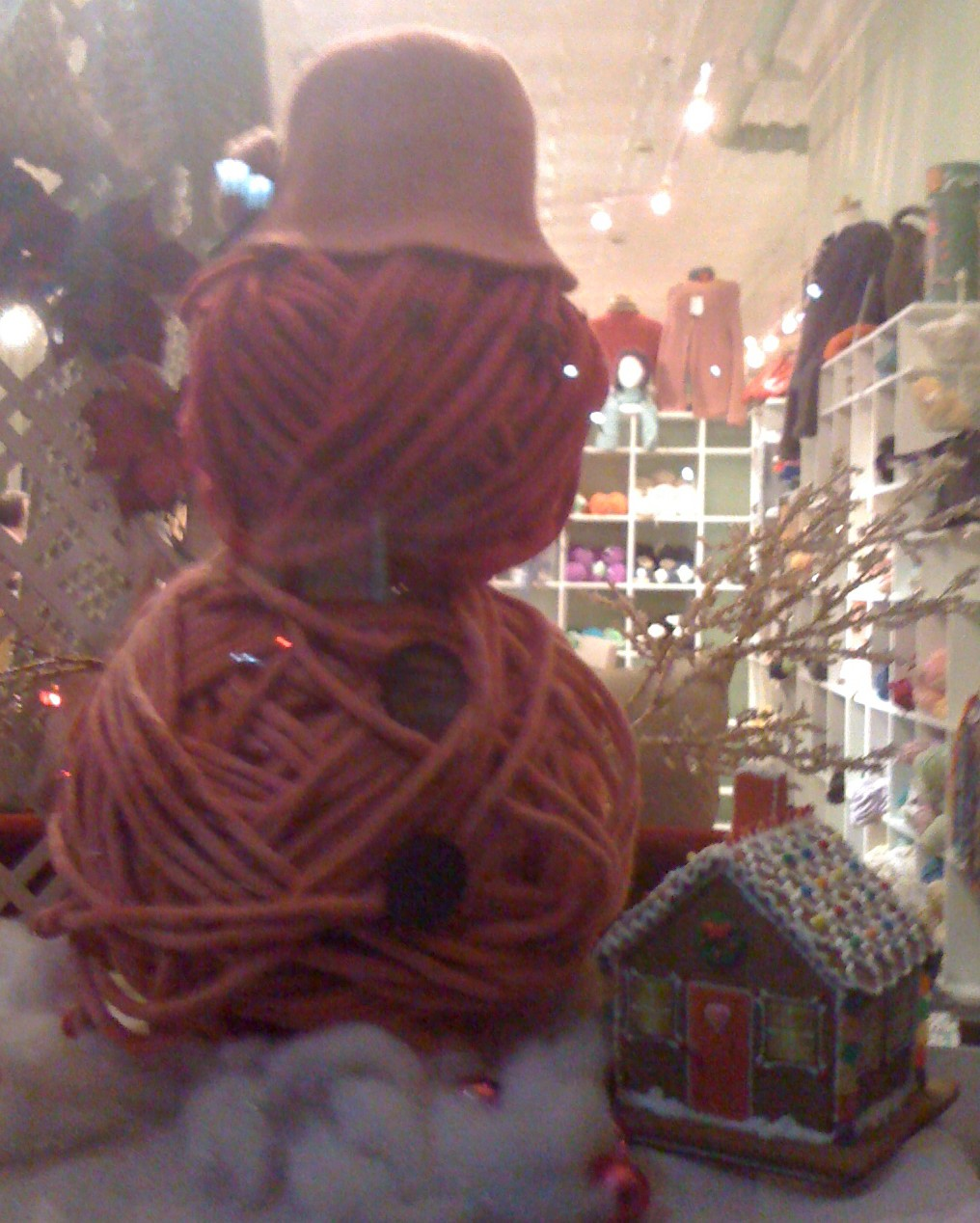 Holiday Window at Chix With Stix in Forest Park, IL