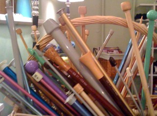 Collection of Straight Knitting Needles