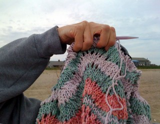 Fire island Beach Kniting