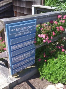Entrance to Purl By the Sea with Flowers Blooming