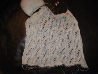 Lily of the Valley Shawl in White Zephur