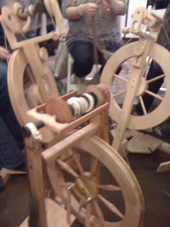 Spinning Circle at Hot Chocolate and Knitting